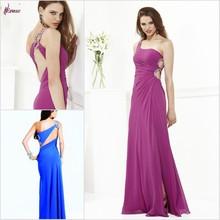 SUN-384 Sheath One Shoulder Slit Side Chiffon Online Prom Dress Shopping
