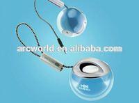 AWS1080 Ball Shape Colorful LED Flashing Outdoor Speaker, alarm clock radio speaker