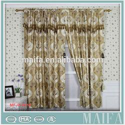 100% polyester fancy valance popular design living room curtains