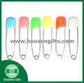 Renkli emniyet pimi, dekoratif renkli çengelli iğne, fantezi güvenlik işaretçilerine toptan