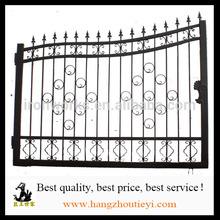 Economic garden sliding iron main gates pictures with excellent quality