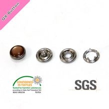 12mm pearl five prong snap button for kids and children clothing