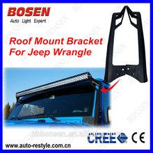 c Mount Jeep Wrangler JK Bracket Mount Kits Off Road Led Light Bar Brackets with 50'' Led Light Bar