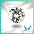 6.5mm corte brilhante redondo 100 facetas de flores e corações branco cz pedra solta