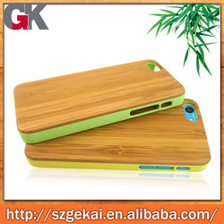 Wood+PC case for iphone 5c, high quality for iphone 5c case china manufacturer