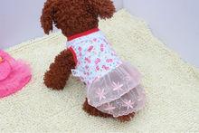 pet clothes dog apparel Floral skirt