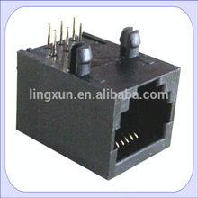 Unshield plastic low price 90 degree side entry rj11 6p6c jack