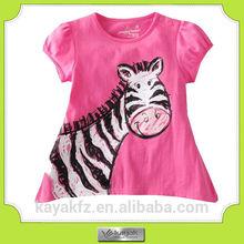 custom China factory directly cotton printing children girl's t-shirt