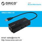 ORICO HR02-U3 3 ports HUB with 1 RJ45 10/100/1000 Gigabit Ethernet LAN Wired Network Adapter