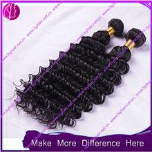brazilian human hair deep wave hair extension from factory supplier