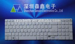 TI Thai keyboard for Acer Aspire NV52L NV55S NV57H NV56R Gateway white