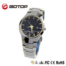 Classic Geneva Diamond Swiss Sapphire Luxury Tungsten Watch