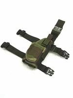 Tactical Drop Leg Light Pistol RH Holster Camo Woodland gun Holster