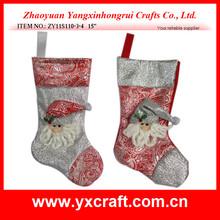 Christmas stocking ZY11S110-3-4 15'' inflatable christmas