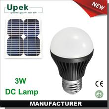 3w 12v led bulb e27 solar bulb for PV lighting system