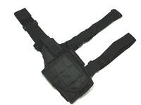 Universal Tactical Drop Leg Light Pistol RH Holster BK revolver holsters