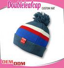 Wholesale Good quality custom design knitting pom pom winter beanie hat