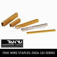 Fine wire staples ,galvanized common wire staples machine making staples