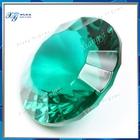 15mm Made in china professional supplier fashion crystal stone gemstone round millennium cut crystal glass rough uncut emeralds