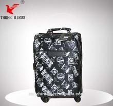 Retro style PU Luggage set,push button pu luggage bag case Carry-on Luggage