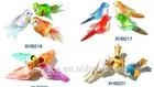 Artificial decorative fake feather birds