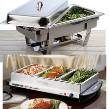 Bain marie, Display showcase, warming lamp and more food warmer for catering