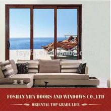 china gold supplier aluminum double glazed glass balcony door design