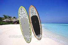 2014 hot selling model pointed nose surfboard cart carbon sup/carbonfiber washed fresh color design