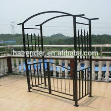 metal pergola with door