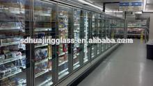 Economic high quality transparent self closing chiller glass door for Australia supermarket