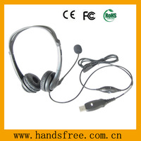 binaural call center headset with noise cancelling microphone