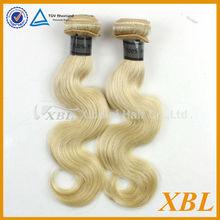 Blonde color hair weave virgin xbl hair Philipphines hair uk