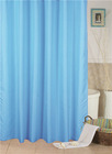 2014 wholesale solid color blue shower curtain