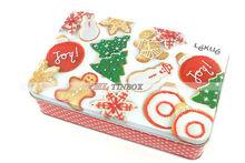 Rectangular Christmas Cookies Gift Tin Can/Tin Box