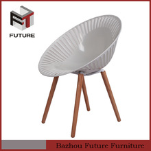 modern plastic dining chairs for sale with wooden legs