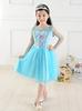 Wholesle instock fast delivery top fashion frock design for children kids girls birthday frozen princess tutu dress