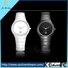 China factory cute girl fashion white ceramic nice looking watch