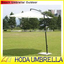 Banana outdoor hanging umbrella for rain or sun garden banana umbrella with aluminium shaft and strong wind resistance direction