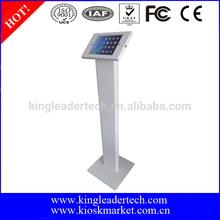 Lockable freestanding metal display stand for ipad