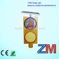 de alta potencia de dos módulos de pantalla completa intermitente led carretera solar traffic light