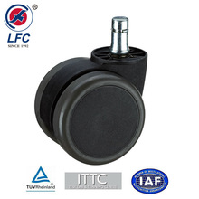 60mm Wheel Caster with spring Passed BIFMA and EN12529 test with PU tyre and Nylon core