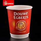 Custom made thick wall paper coffee cups with logo