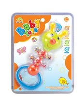 safe material learning fun ABS animal baby bell toys plastic with EN71