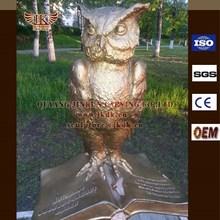 Bronze animal sculpture owl landscape sculpture