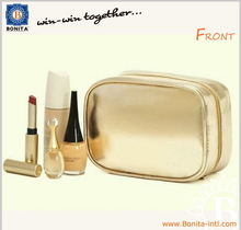 Wholesale pvc leather cosmetic bag make-up cosmetic