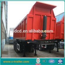 60 ton 3 axle rear hydraulic dump truck tractor trailer