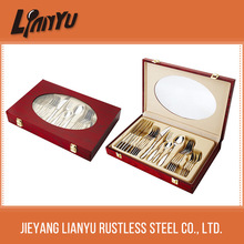 Hot sale stainless steel cruet set with wooden box