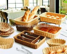 Wholesale cheap bakery bread basket wicker bread basket rattan bread basket