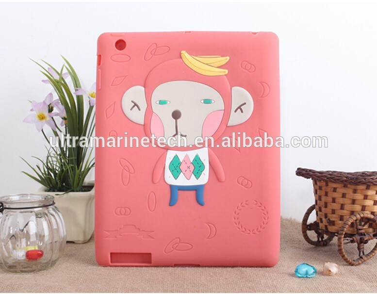 Sylvanian Families Animals case for ipad 2/3/4,for ipad silicon case