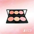 La etiqueta de su propia maquillaje hecho en taiwán blush/colorete con espejo